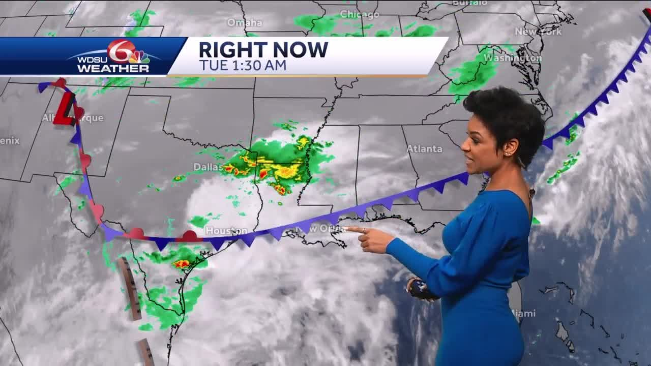 Flash Flood Watch through early Wednesday afternoon, isolated severe risk