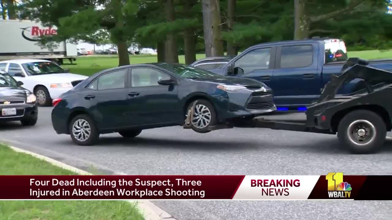Aberdeen Rite Aid shooting suspect's vehicle removed from parking lot