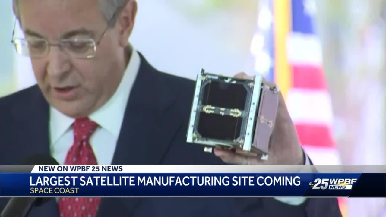 Largest satellite manufacturing site coming to Space Coast, DeSantis announces