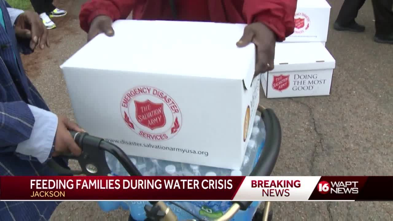 Salvation Army distributes water, food to Jackson residents