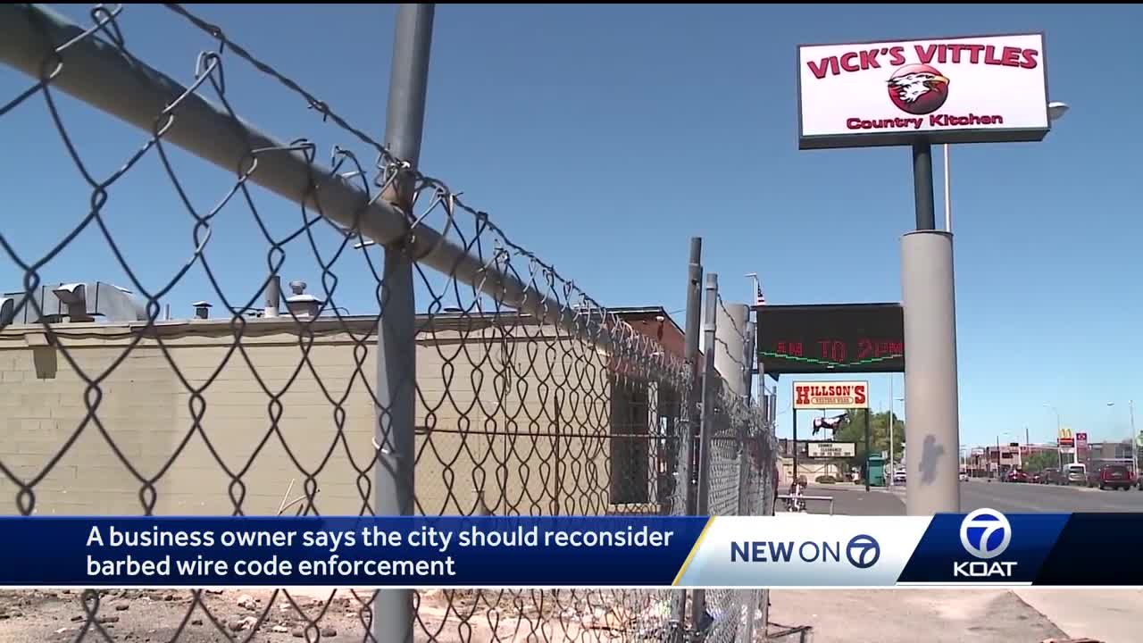 Business owner could face time in jail over barbed wire fence ordinance
