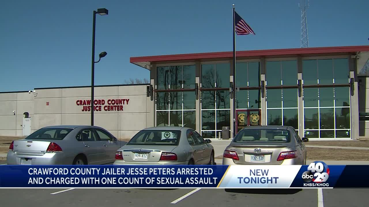 Crawford County jailer Jesse Peters arrested and charged with one count of  sexual assault