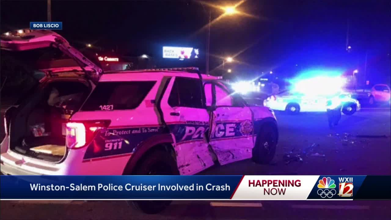 Winston-Salem police officer recovering after crash Sunday evening