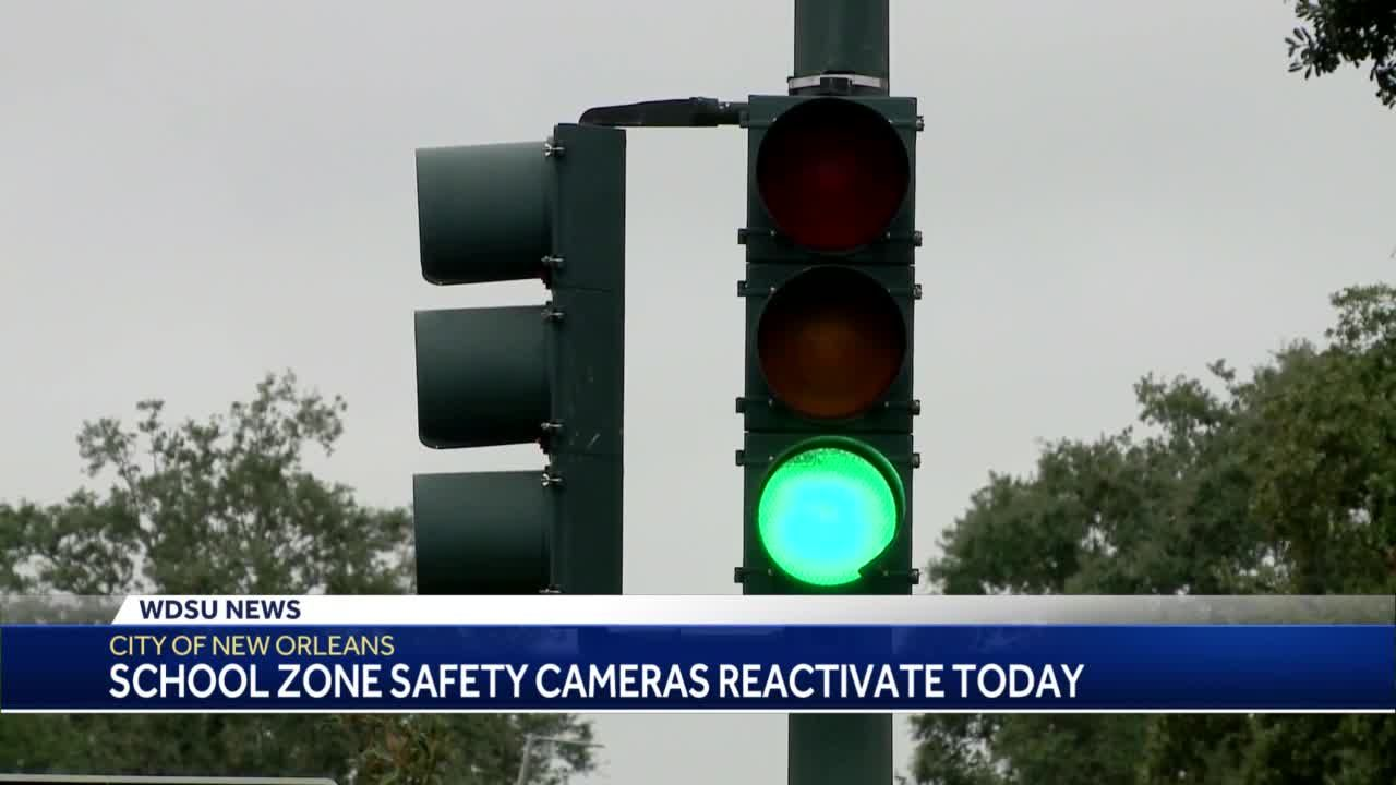 City of New Orleans warns drivers school zone cameras reactivated Monday