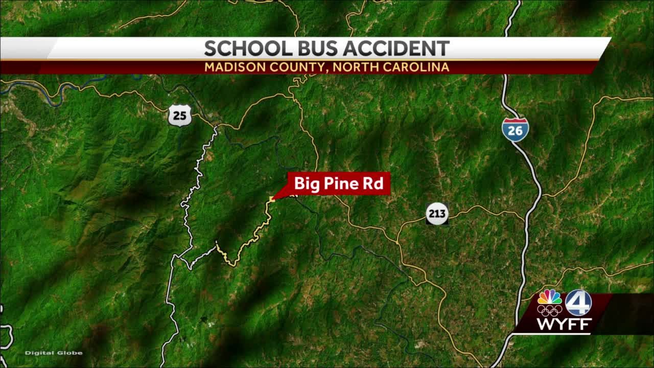 School bus crashes into Madison County creek, troopers say