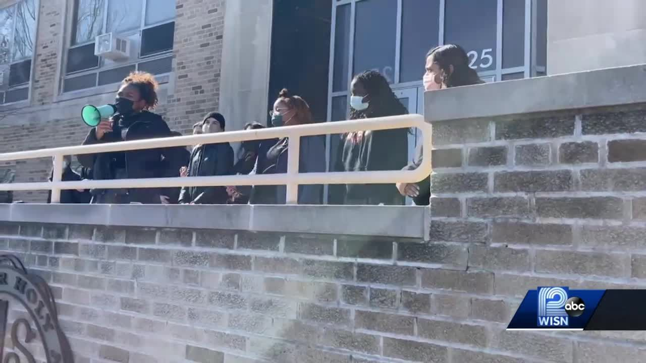 Students walk out of class over school's race policies
