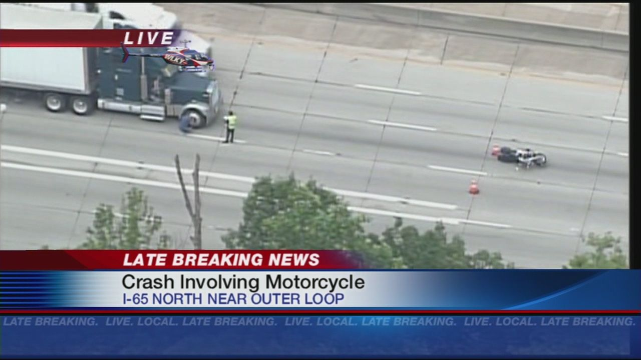 Accident involving a semi, motorcycle on I-65 northbound