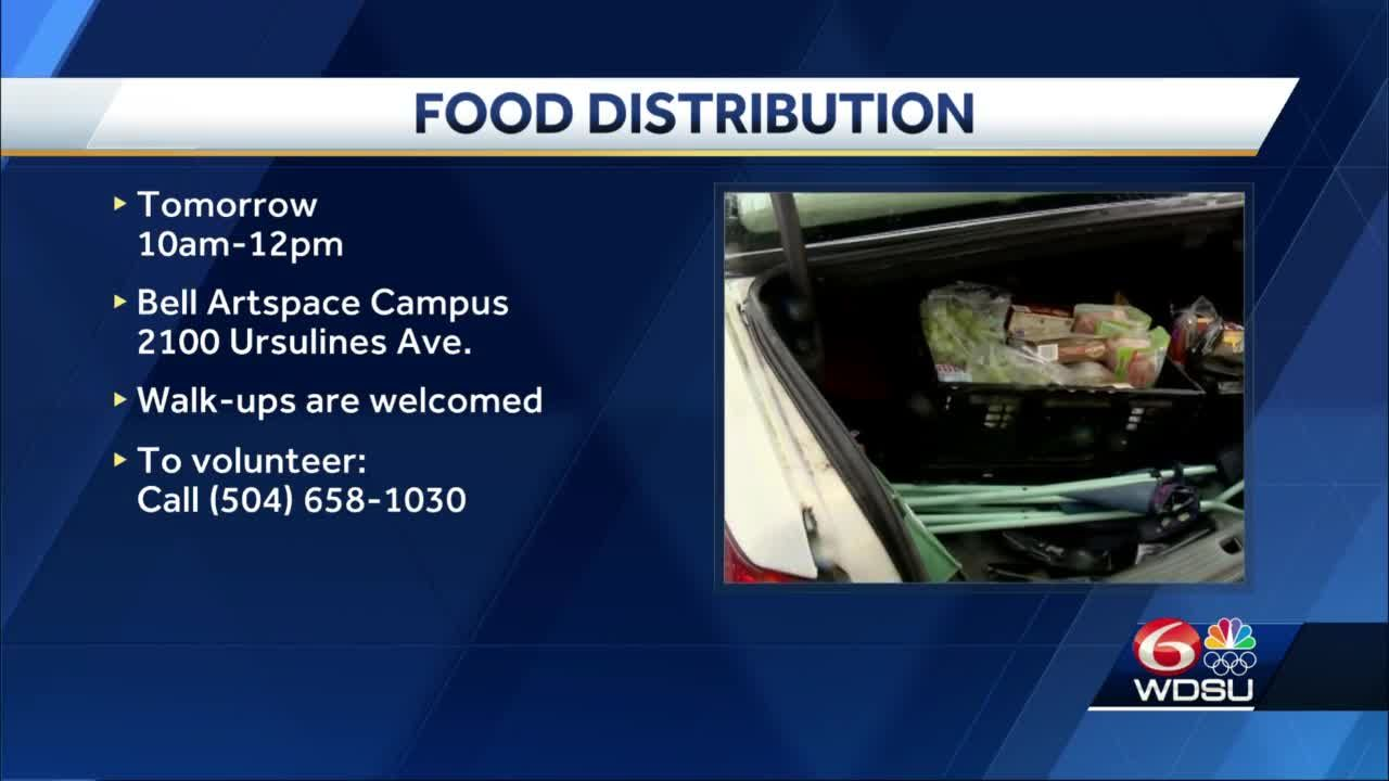 Food distributions scheduled for Friday, Saturday in New Orleans