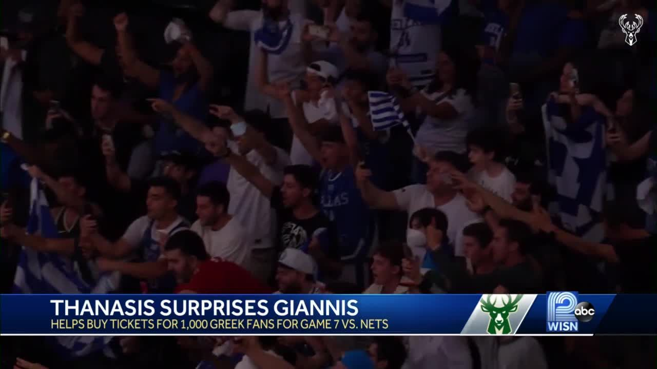 Giannis' brother had surprise for him during Game 7