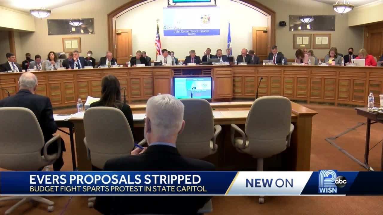 Republicans strip hundreds of Evers' budget proposals