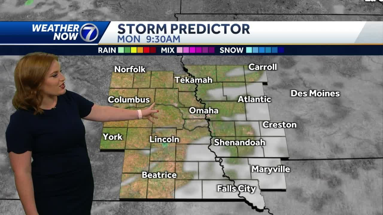 Cooler and breezy Monday, heat and storms return Tuesday