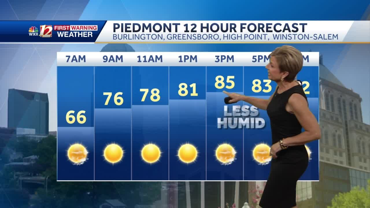 WATCH: Less humid air arrives Tuesday