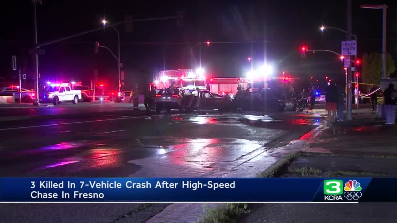 3 killed in fiery California crash during high-speed pursuit