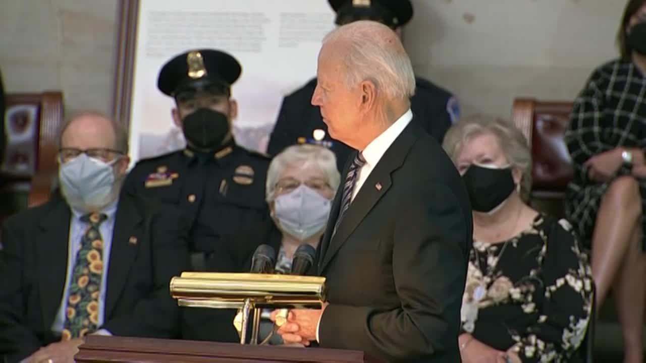 President Biden honors Officer Evans