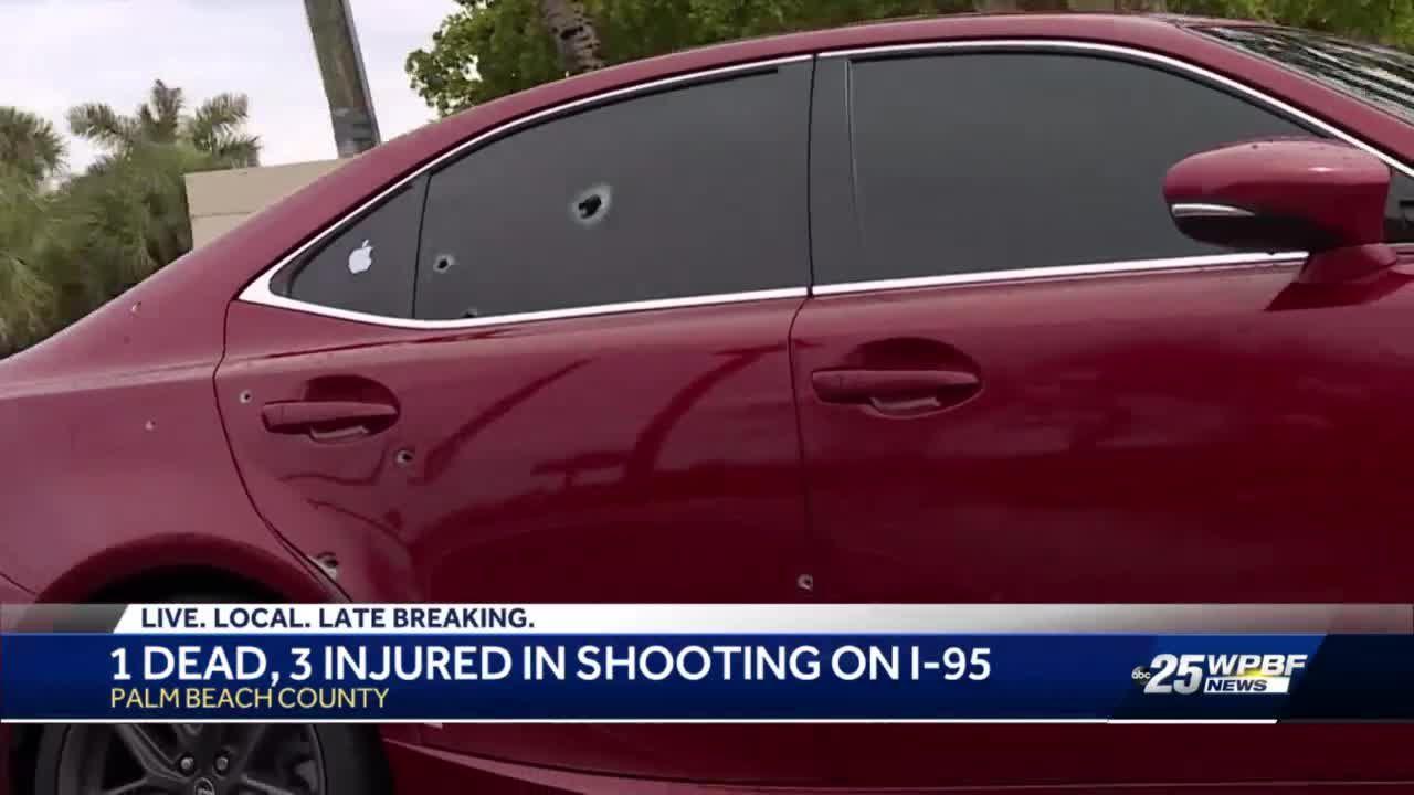 Interstate 95 shooting leaves 1 dead, 3 injured