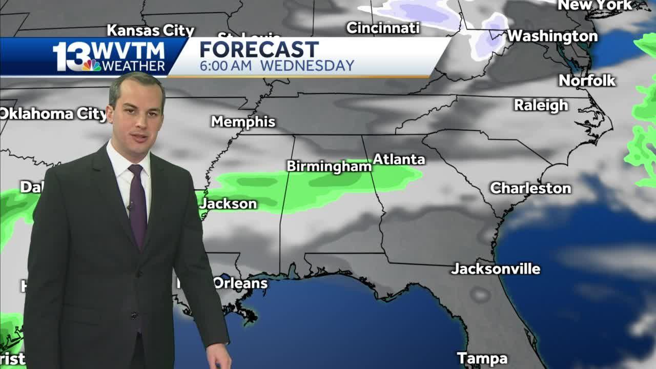 Rain chances increase late in the week