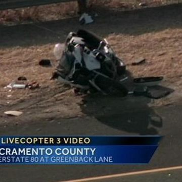 CHP officer thrown from motorcycle in crash