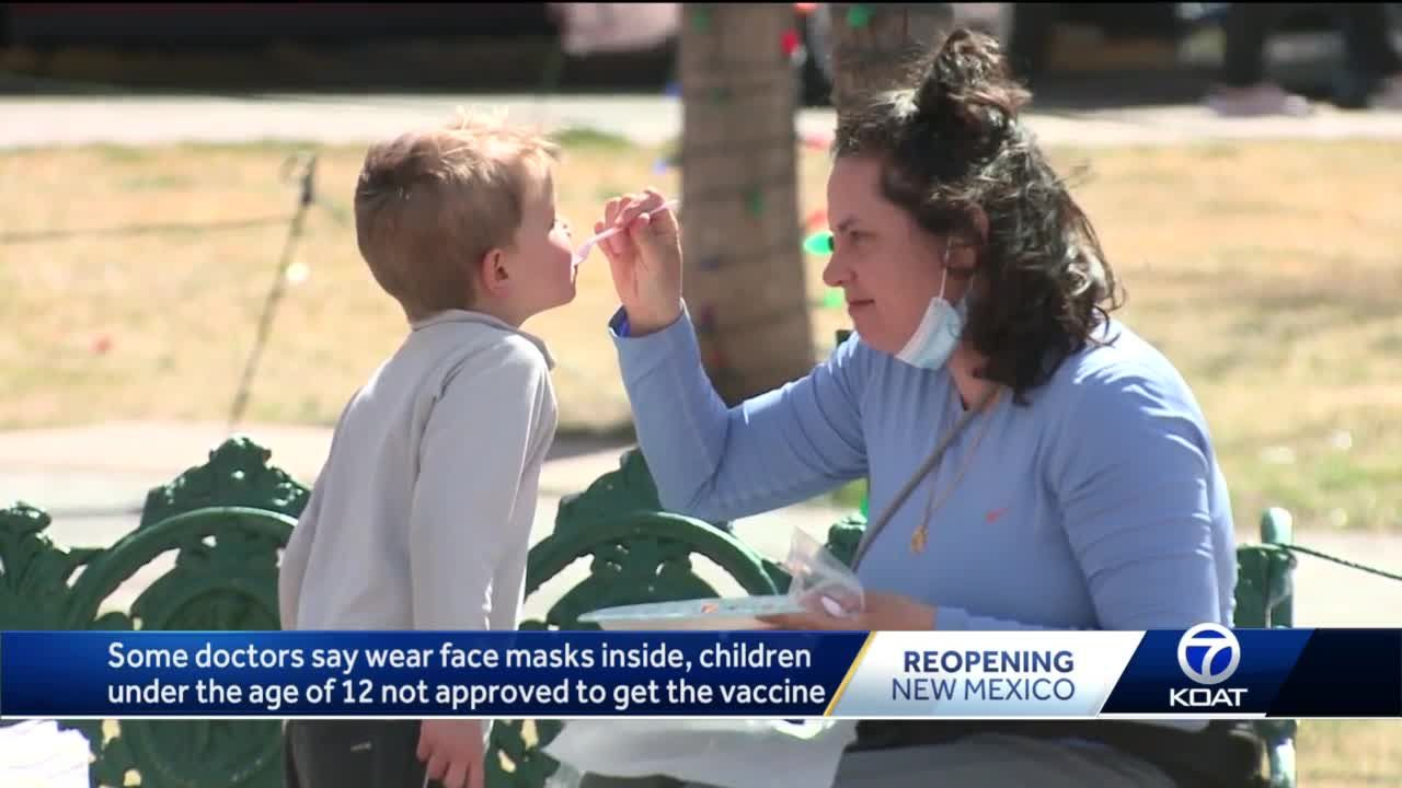 Some doctors recommend people wear face masks indoors since kids under 12 can't get vaccinated yet