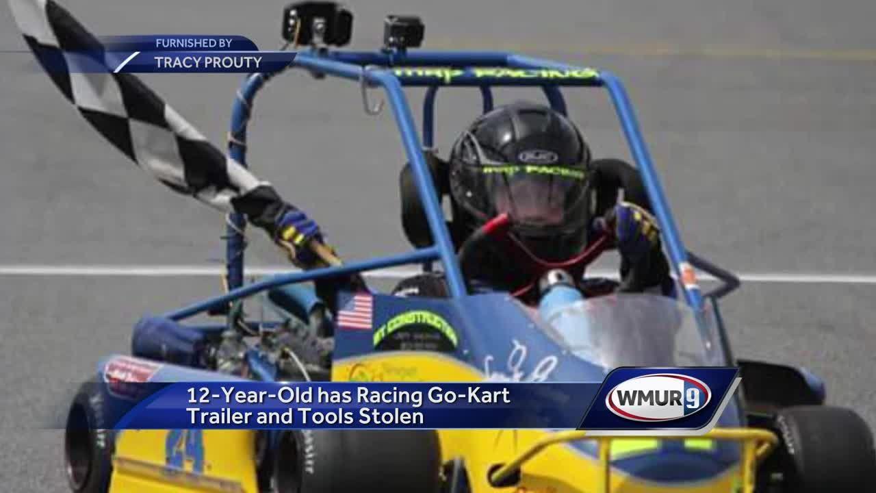 Go-kart, trailer belonging to 12-year-old racer stolen