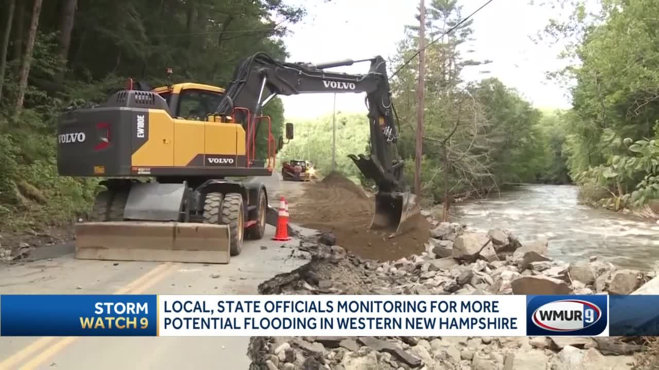 Officials monitoring potential flooding damage in western New Hampshire