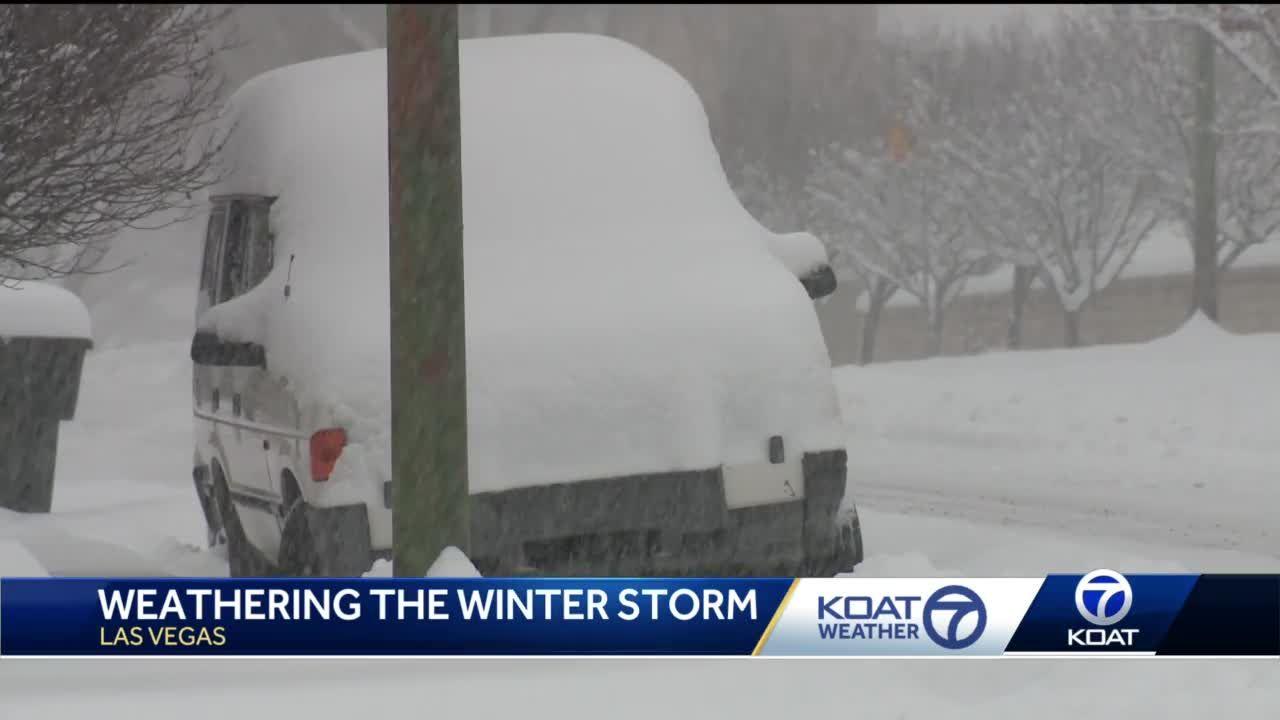 Weathering the winter storm in Las Vegas