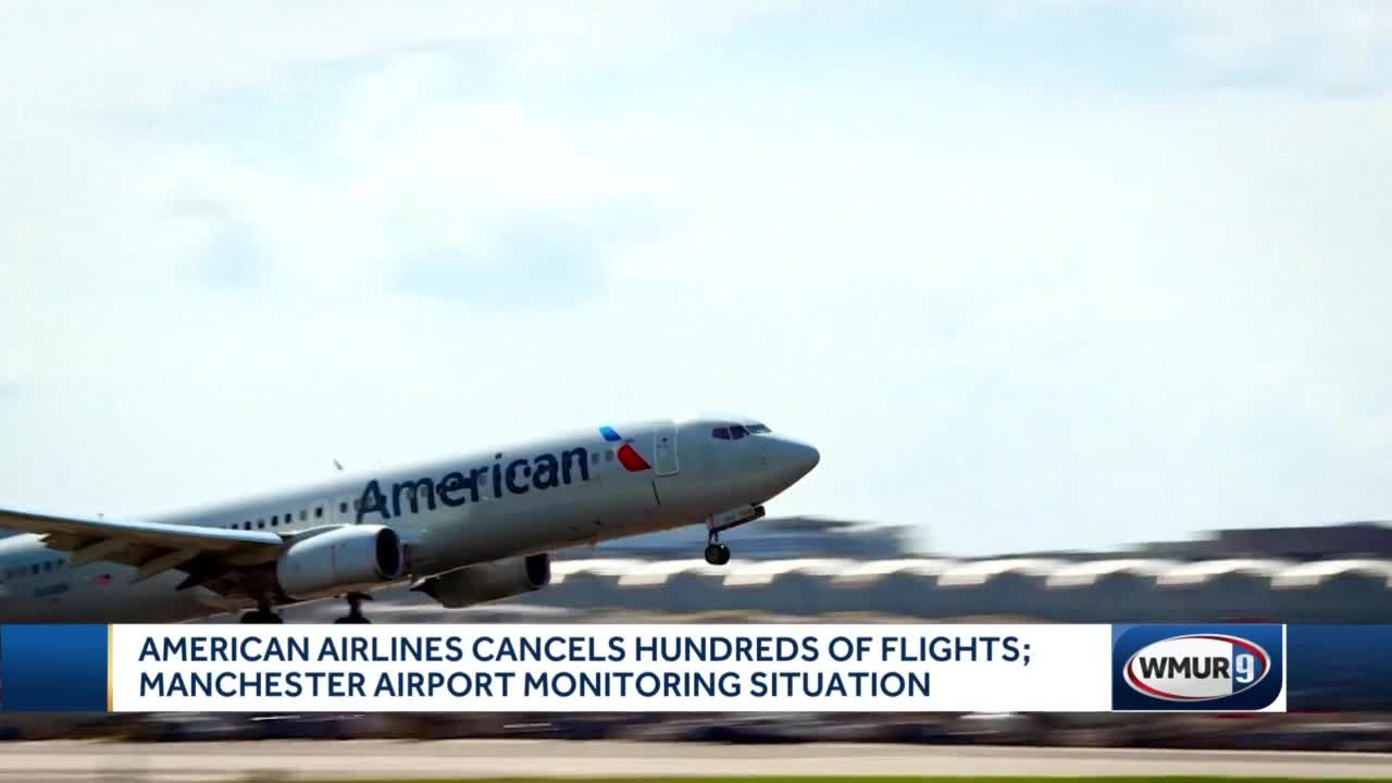 American Airlines cancels hundreds of flights; Impact in Manchester expected to be minimal