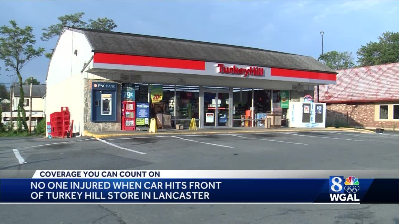 Car crashes into Turkey Hill store in Lancaster