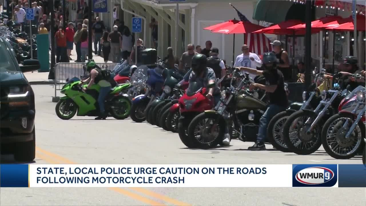 State, local police urge caution following motorcycle crash