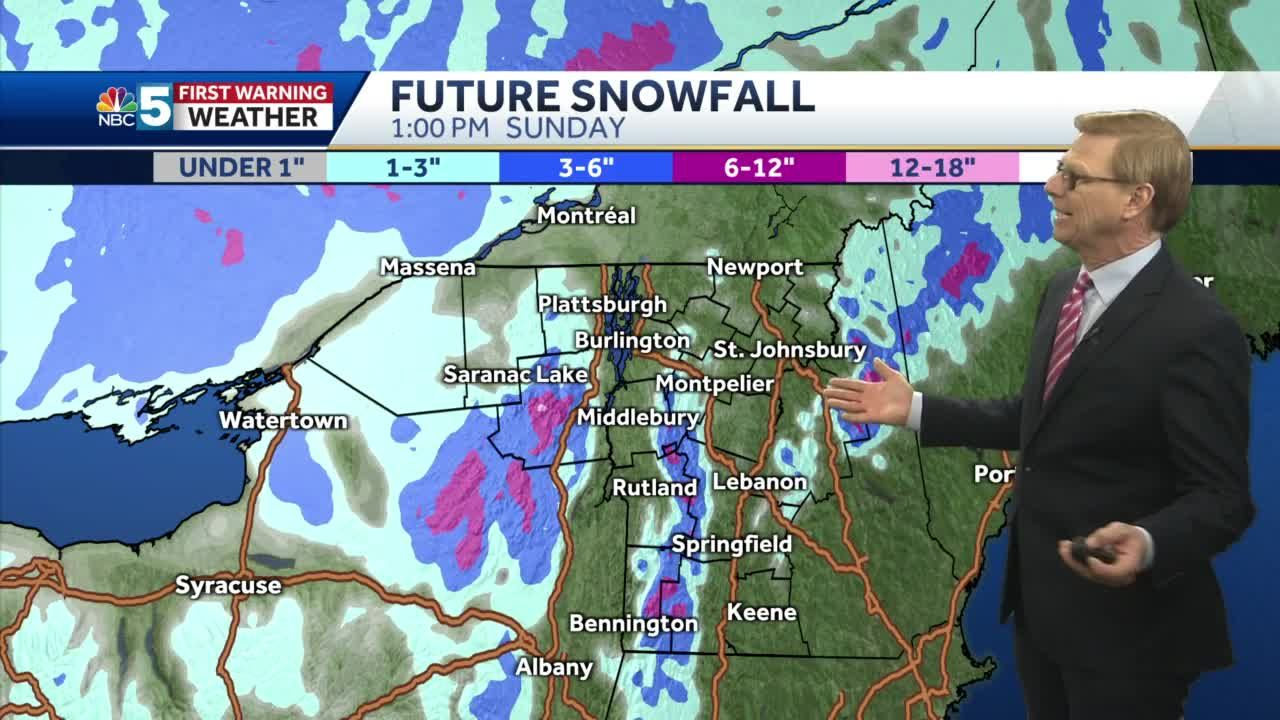 Video: Tom is expecting rain/snow to arrive late Friday night. 1.14.21