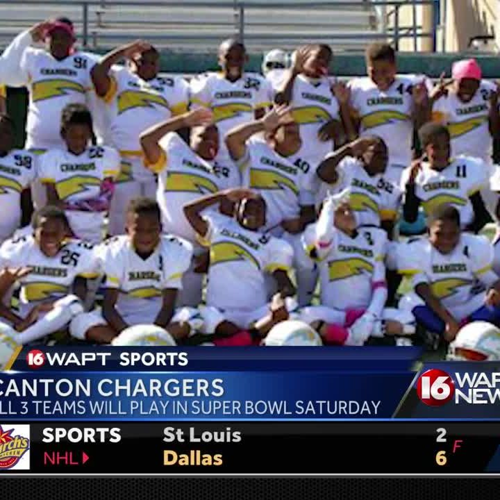 Canton Chargers feature three teams in Pop Warner Super Bowl