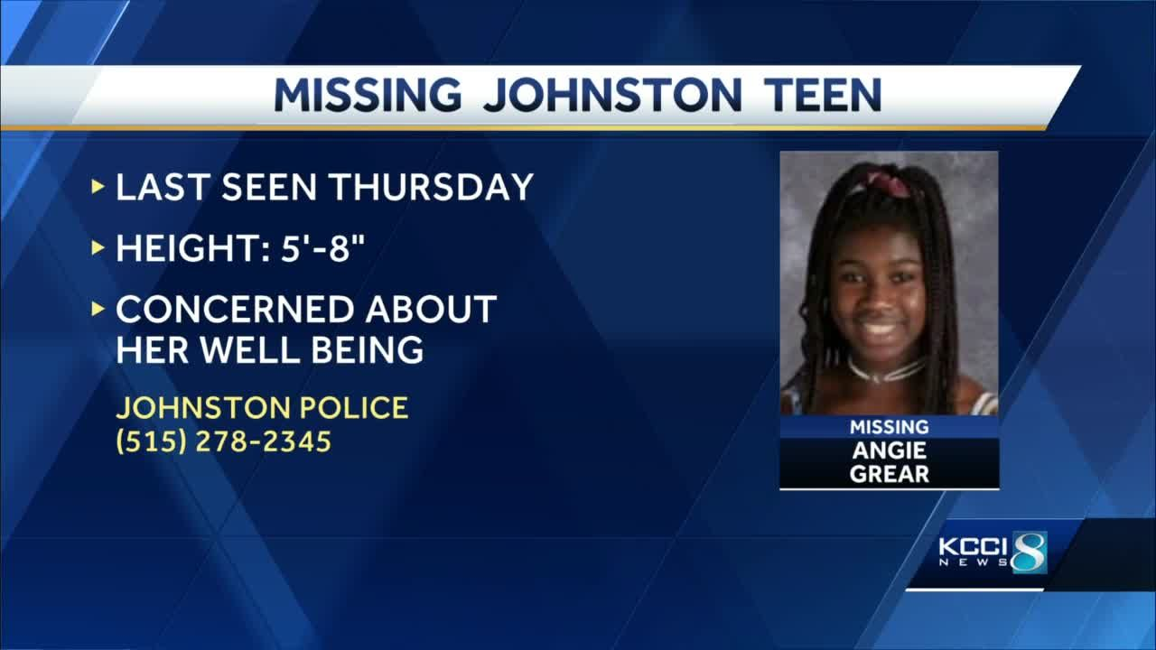 Authorities searching for 13-year-old Johnston girl last seen Thursday