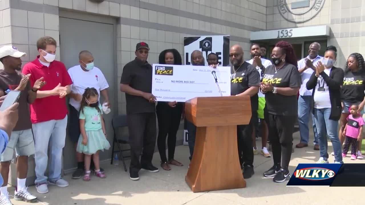 Louisville based anti-violence organization receives donation