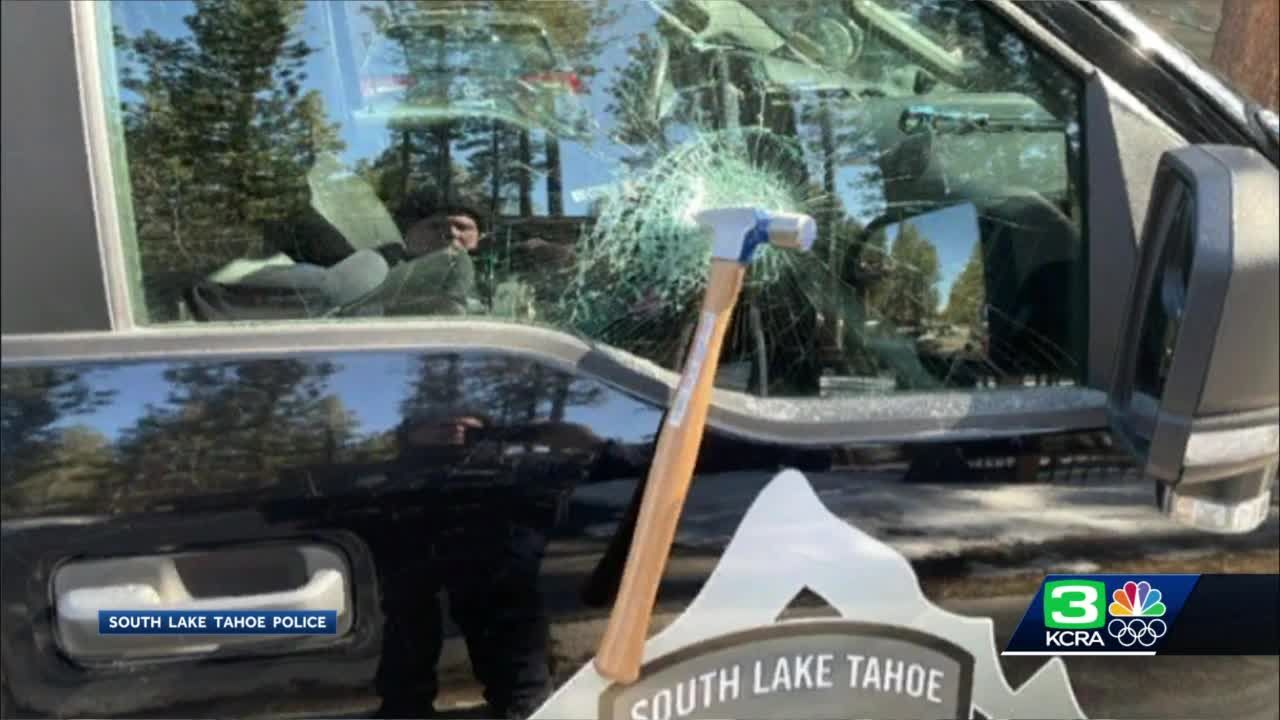South Lake Tahoe PD: Stabbing suspect throws hammer at police vehicle before arrest