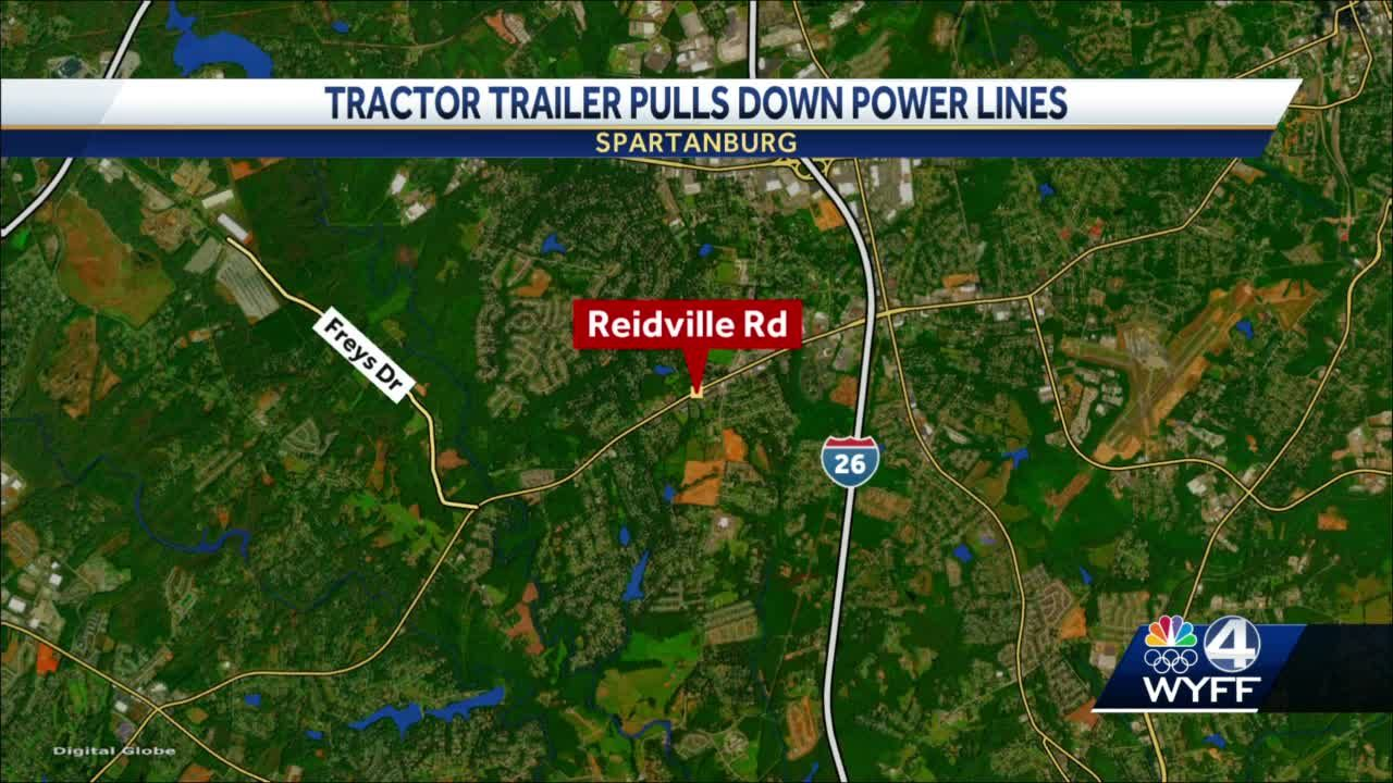 Hundreds without power after tractor trailer hits power lines, troopers say