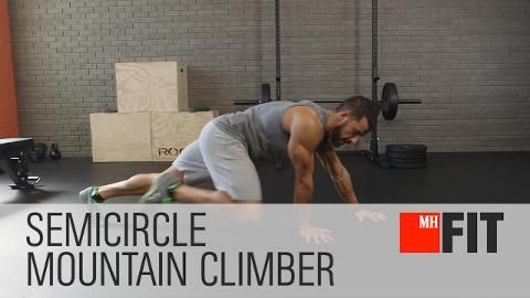 Crush Your Core with the Semicircle Mountain Climber