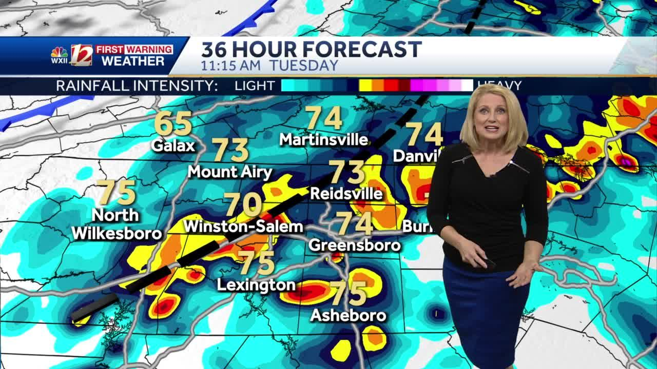 WATCH: Claudette Exits Plus Hot & Steamy Monday, More Storms Likely Tuesday