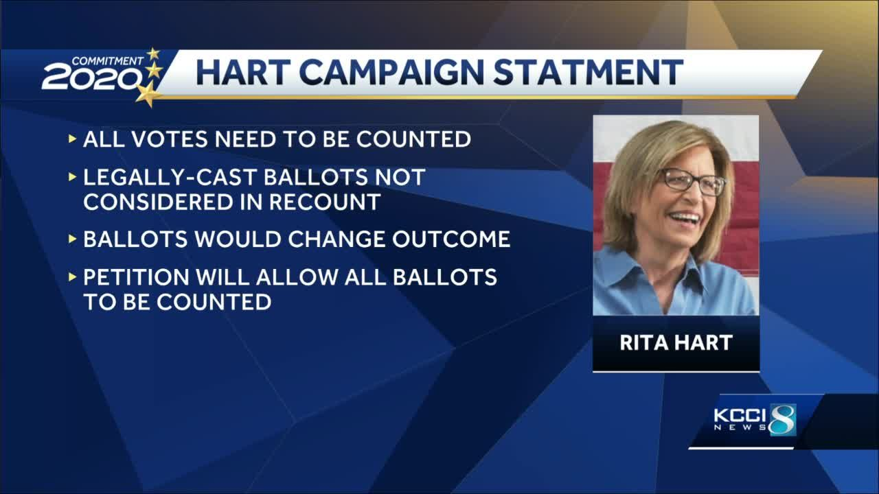 Democrat Rita Hart to challenge results of 2nd Congressional District race