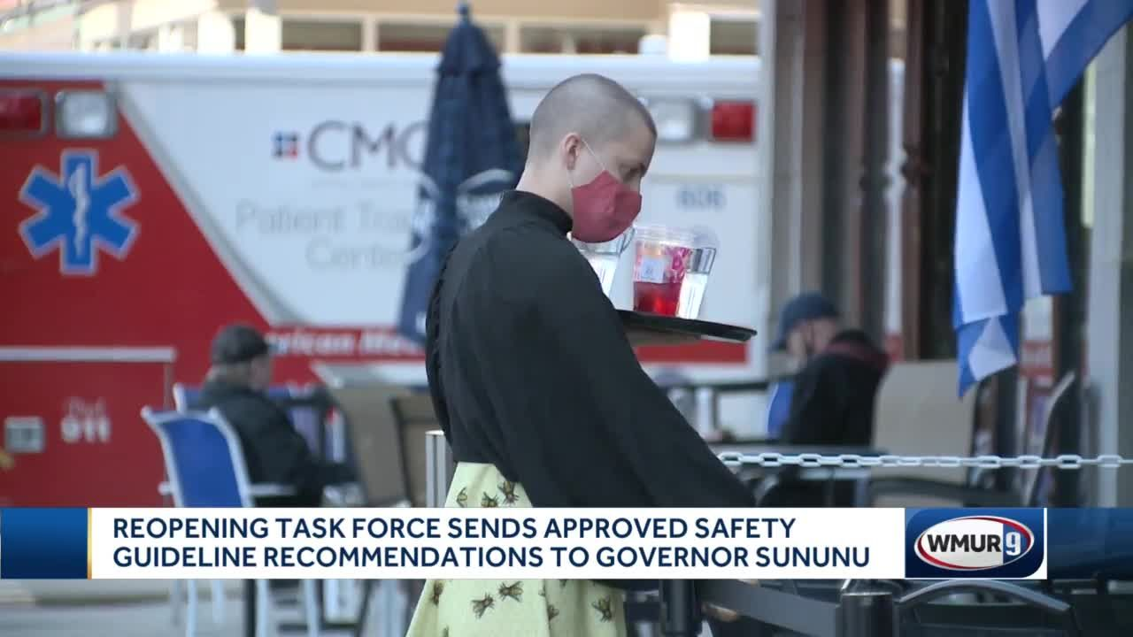 Task force recommends easing distance requirement for outdoor dining