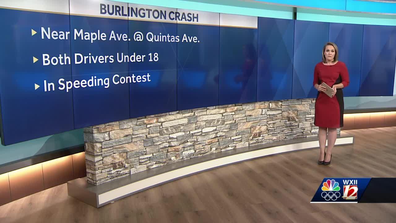 Burlington crash sends two teenagers to hospital after speeding contest