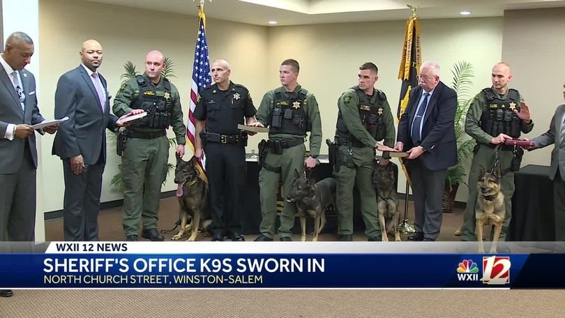 Forsyth County Sheriff's Office K-9s take oath of office