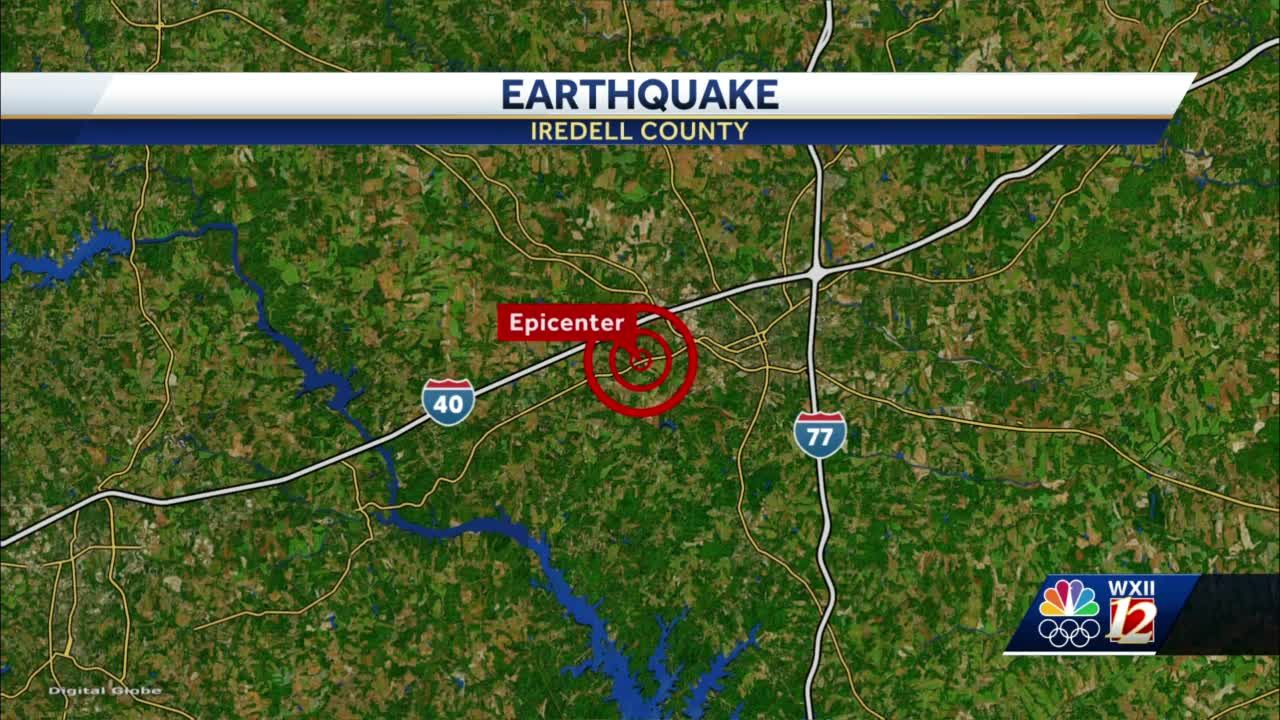North Carolina, Tennessee experience three earthquakes overnight
