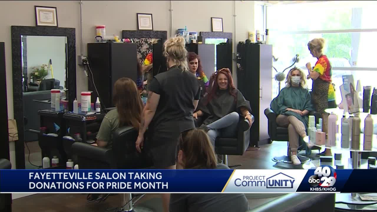 Fayetteville salon taking donations for Pride month