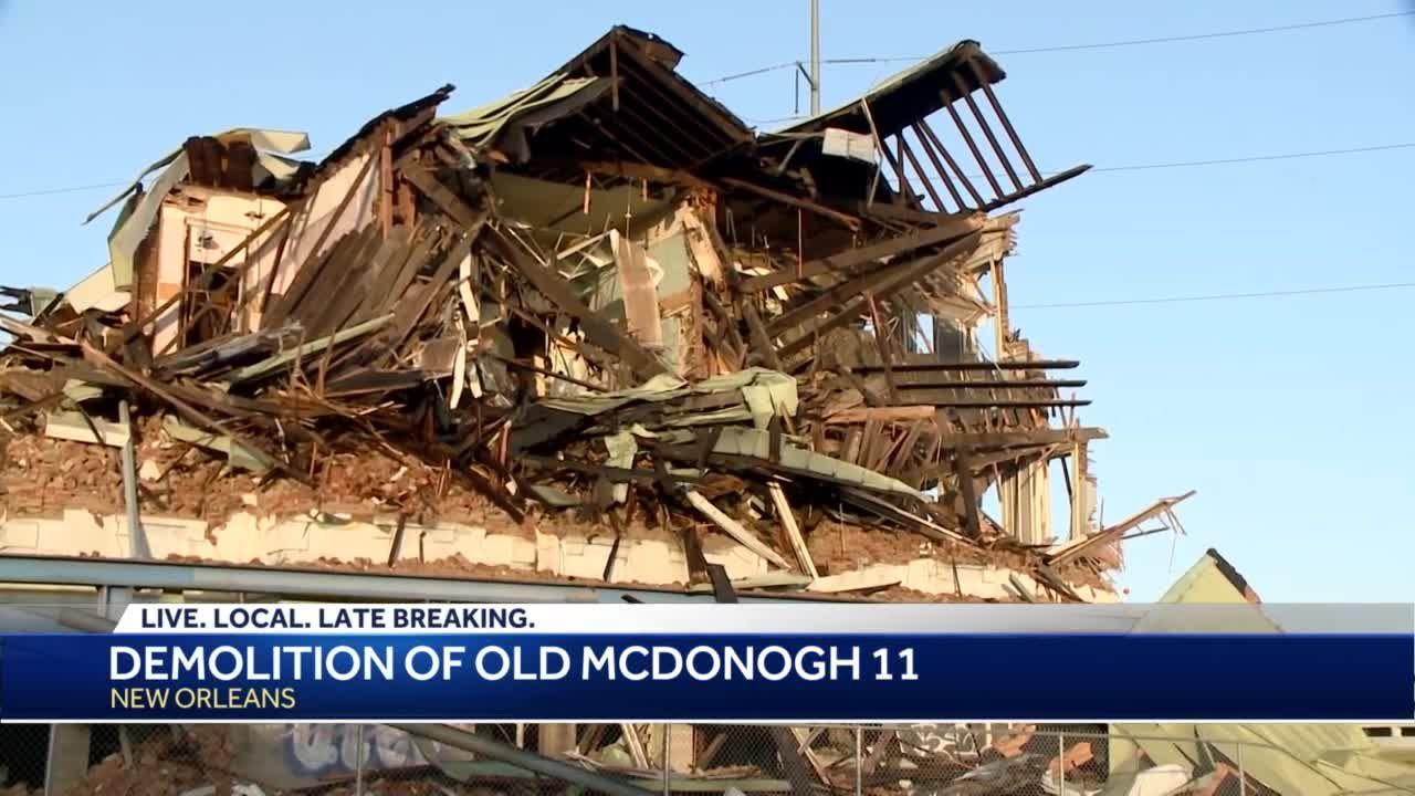 Demolition underway of old McDonogh 11 building near UMC