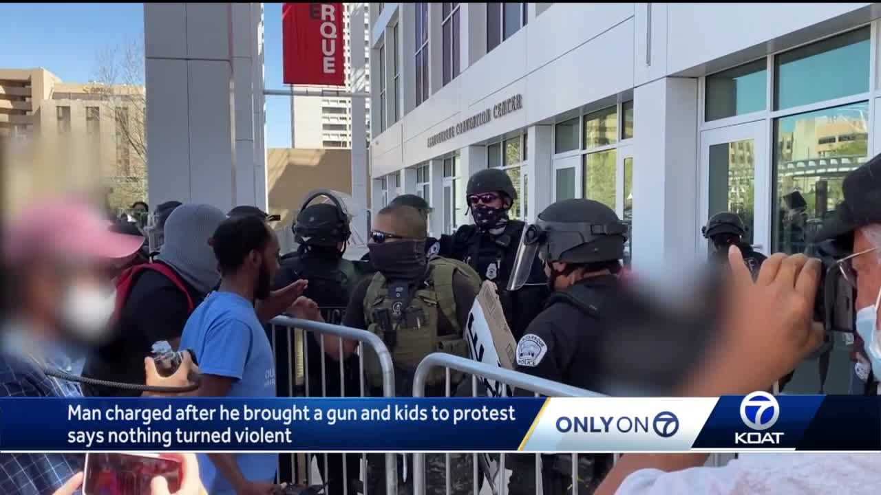 Man arrested at protest says his rights were violated
