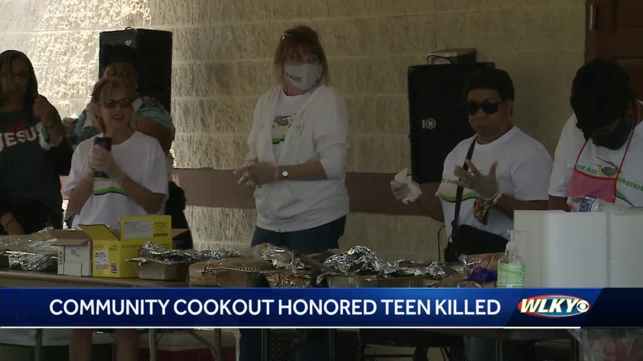 Community cookout honors 16-year-old gunned down on porch of Chickasaw home