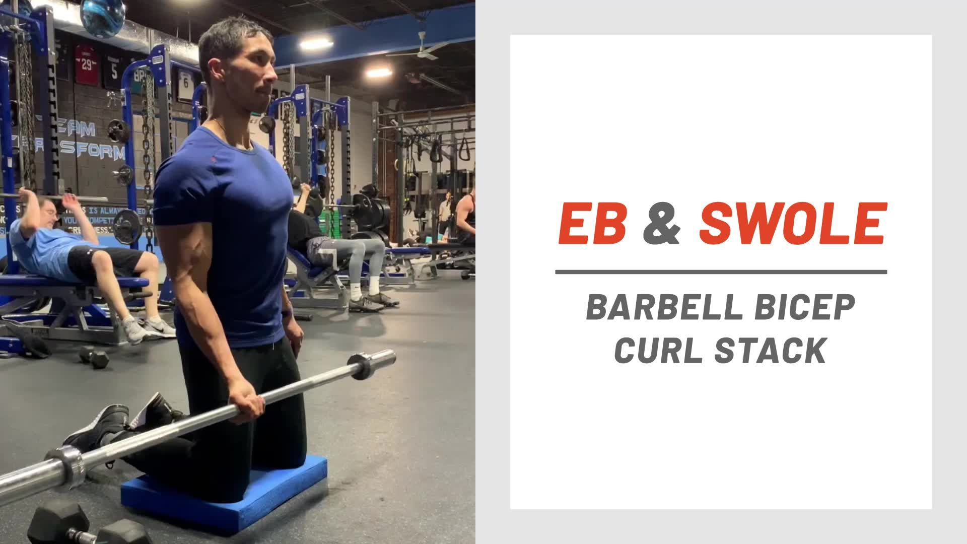 This Barbell Curl Blaster Will Blow Up Your Biceps