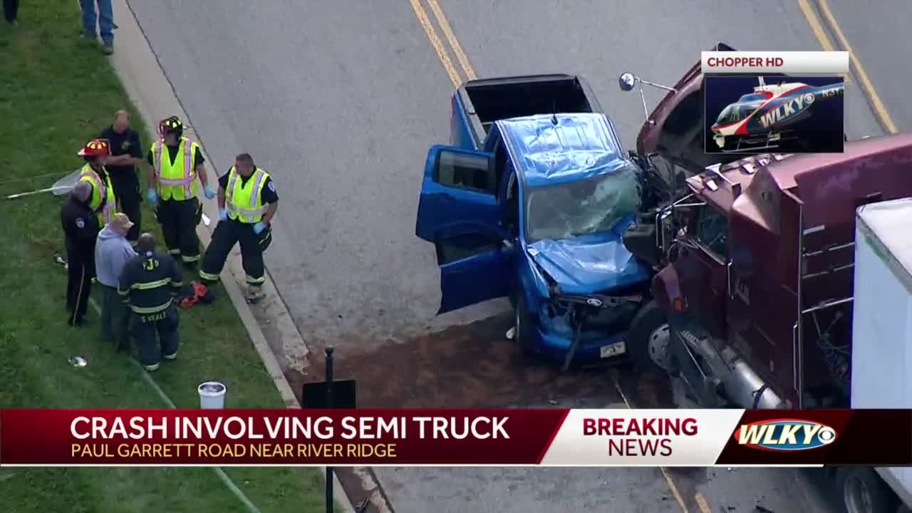 Severe crash as pickup truck collides with semi-truck in Charlestown