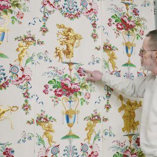 Wallpaper, Textile, Organism, Floral design, Art, Visual arts, Pattern, Pattern, Plant, Interior design,