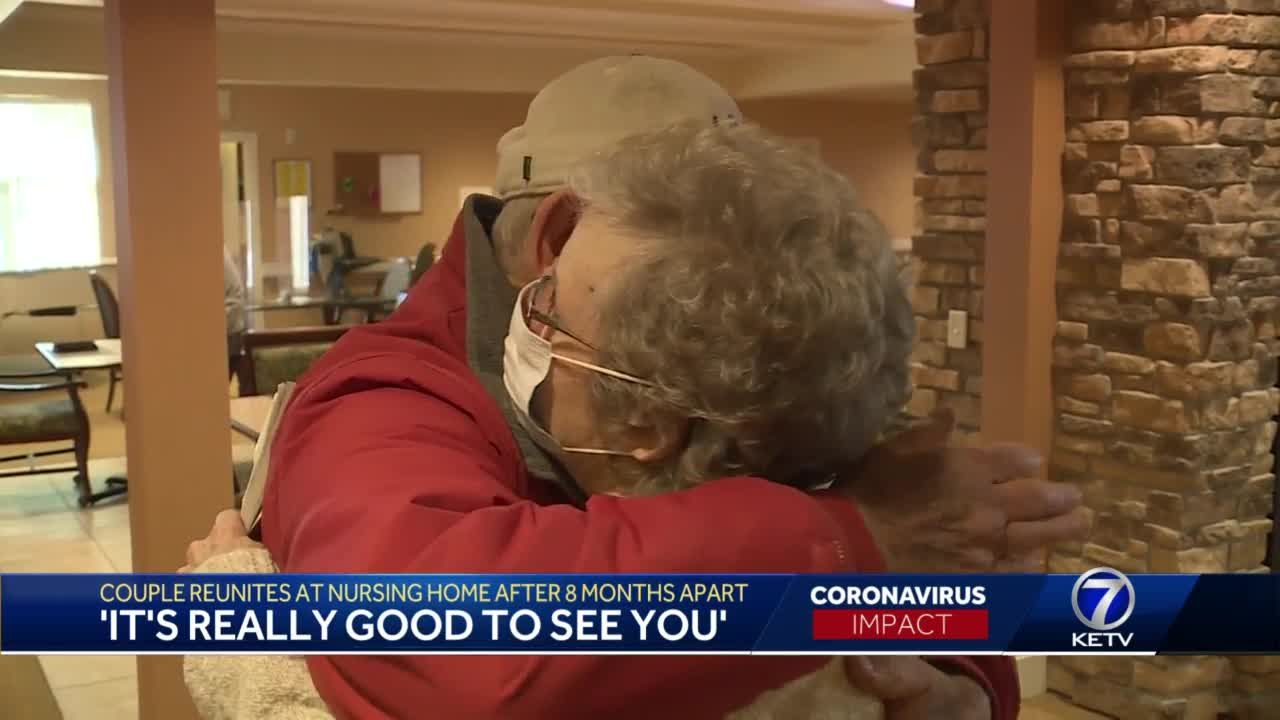 Couple reunites at nursing home after 8 months apart