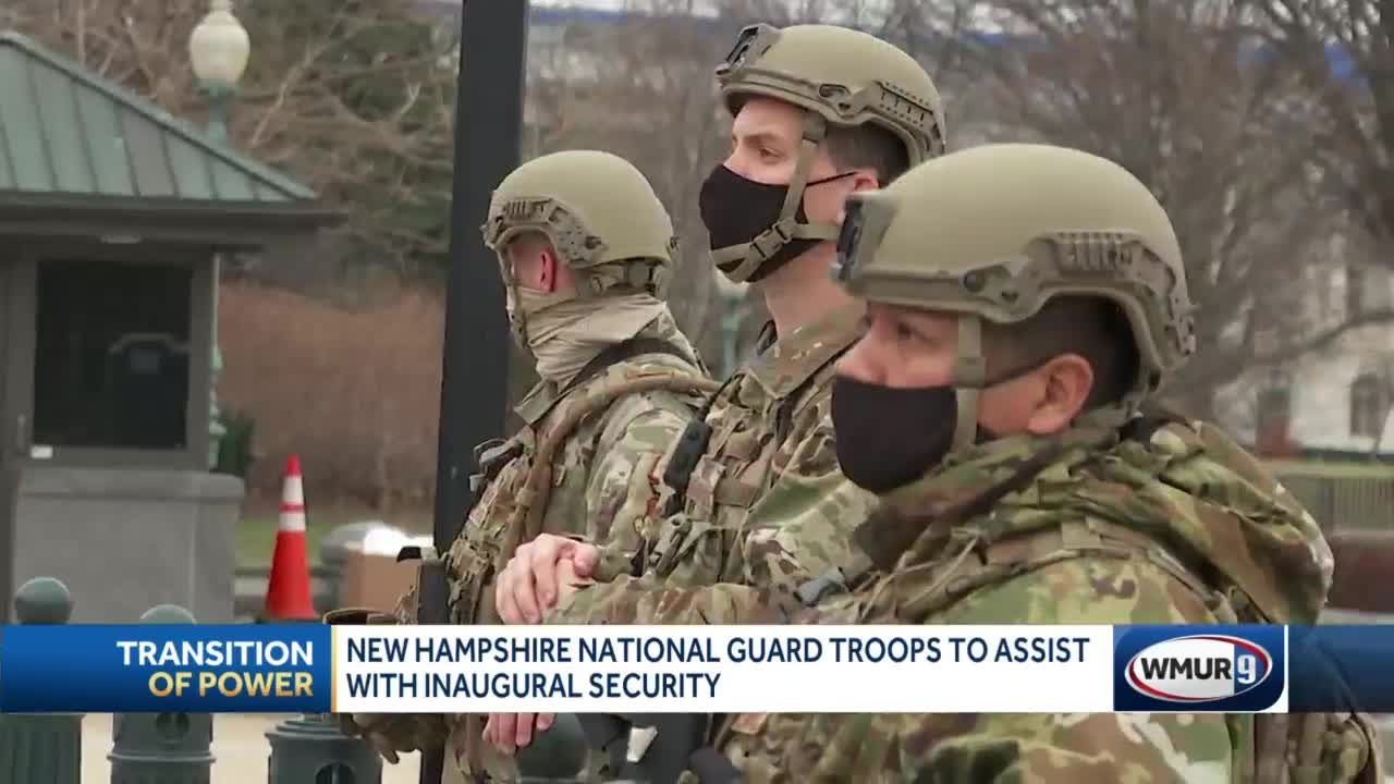 New Hampshire National Guard troops assisting with inaugural security